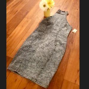 Dresses - Fitted Denim Dress